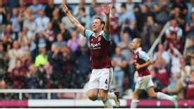 Kevin Nolan hit the target for West Ham against Cardiff.