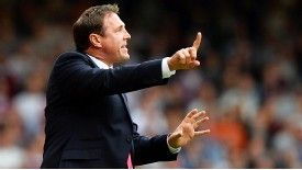 Malky Mackay tries to plot a way through the West Ham defence at Upton Park