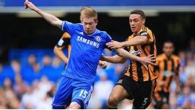 Kevin De Bruyne in action against Hull
