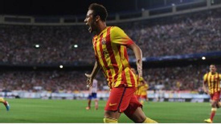 Neymar is finding his feet at Barcelona.