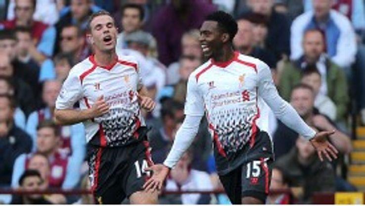 Daniel Sturridge wheels away after scoring a super opener for Liverpool.
