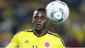 Duvan Zapata in action for the Colombia Under-20 team.