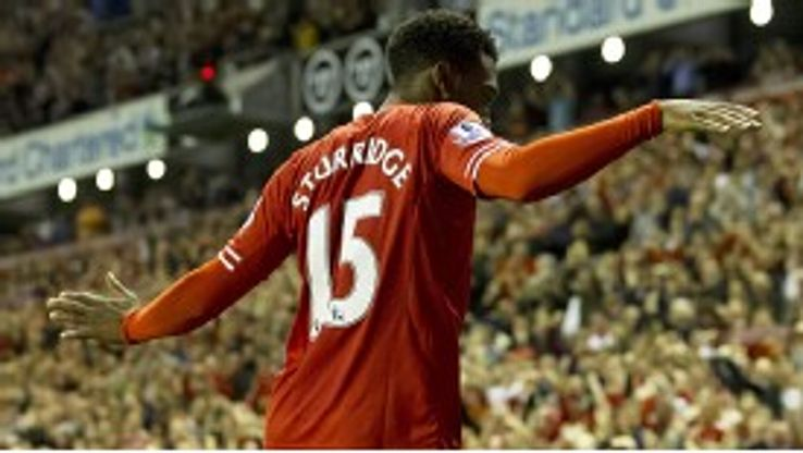 Daniel Sturridge celebrates after putting Liverpool in front against Notts County in extra-time