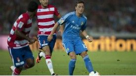 Mesut Ozil in action for Real Madrid against Granada in La Liga.