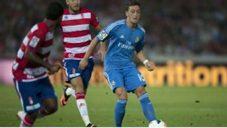 Mesut Ozil in action for Real Madrid against Granada in La Liga.