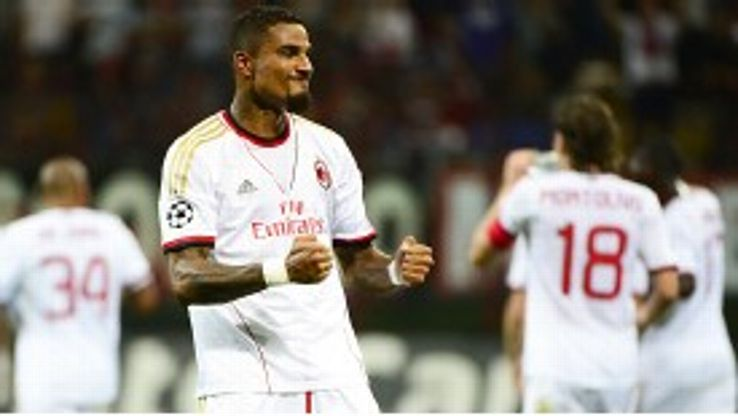 Kevin-Prince Boateng put Milan in front against PSV after nine minutes.