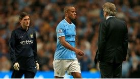Vincent Kompany sustained the injury in the season opener against Newcastle.