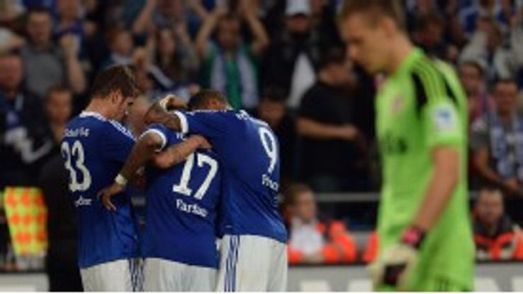 Kevin-Prince Boateng celebrated a victory on his Schalke debut.