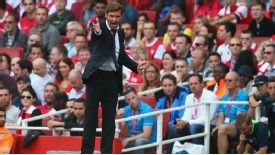 Andre Villas-Boas shouts at his Tottenham team during the north London derby.
