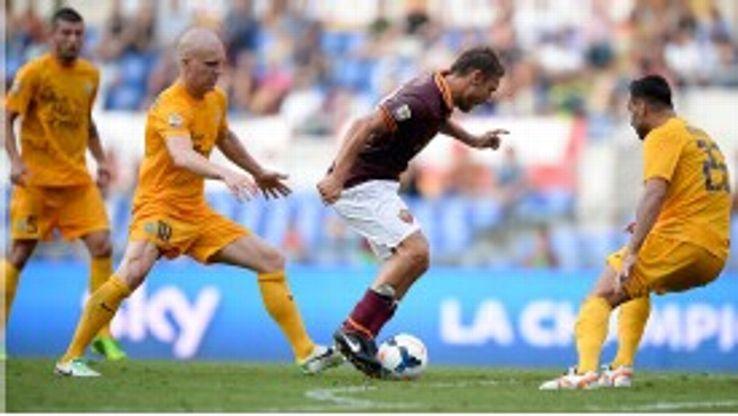 Roma ran out 3-0 winners.