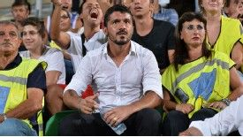 Gennaro Gattuso's future at Palermo is under question.