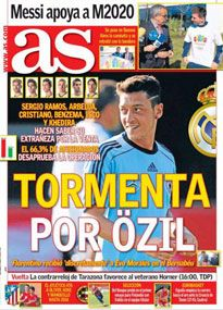 AS' front page on September 4, 2013.