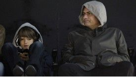 Jose Mourinho and son Jose Mario Mourinho enjoy a match at Crabem Cottage in February 2011.