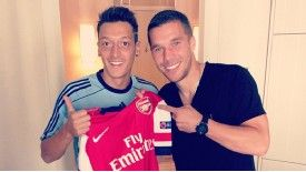 Lukas Podolski posted an image of his new team-mate on his Instagram account.