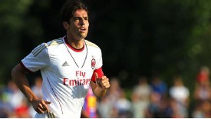 Kaka was handed the captain's armband in his first match since rejoining Milan.