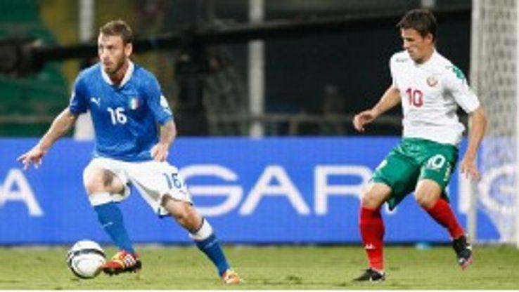 Daniele De Rossi Italy v Bulgaria action
