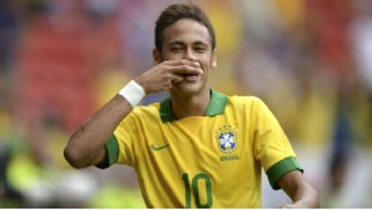 Neymar Brazil celebration