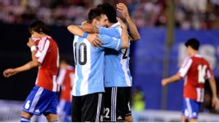 Lionel Messi scored a brace from the penalty spot for Argentina against Paraguay.