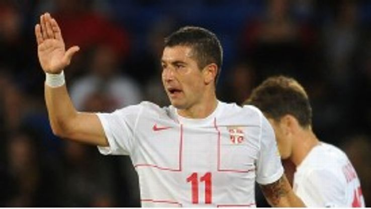 Aleksandar Kolarov netted for Serbia in their victory over Wales on Tuesday.