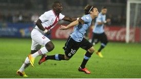 Uruguay flourished against Peru after Diego Forlan went off injured.