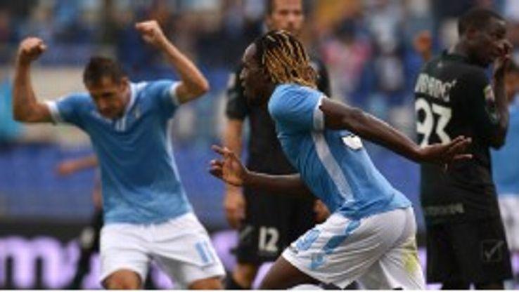 Luis Pedro Cavanda scored Lazio's second goal against Hellas Verona.