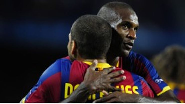 Eric Abidal and Dani Alves were close at Barcelona.