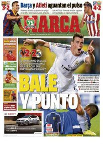 Marca's cover hails Bale's contribution on debut.