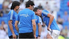 Gareth Bale suffered a thigh injury in the warm-up and was forced out of the game against Getafe.