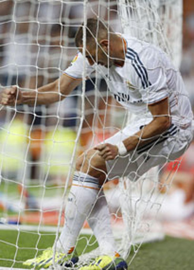Karim Benzema was left frustrated during the victory over Getafe.