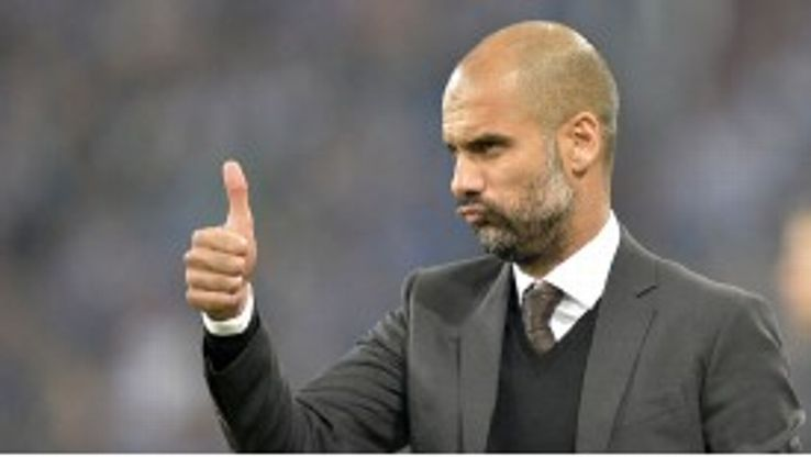 Pep Guardiola was delighted with Bayern Munich's performance against Schalke.