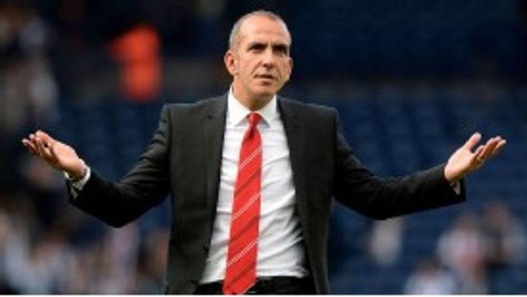 Paolo Di Canio gestures to the Sunderland fans after their loss at West Brom -- 24 hours later the club