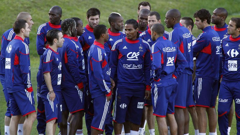 France's players refused to train at the 2010 World Cup in protest against Nicolas Anelka's expulsion from the squad.