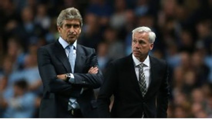 Alan Pardew is hoping his side can upset Manuel Pellegrini's men when they meet at St James'.