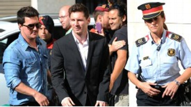 Lionel Messi denied any wrongdoing at the court hearing in Gava, Catalonia.