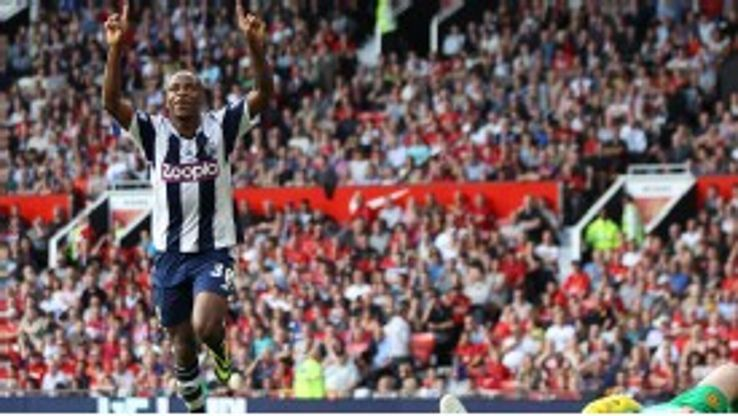 West Bromwich Albion's Saido Berahino celebrates