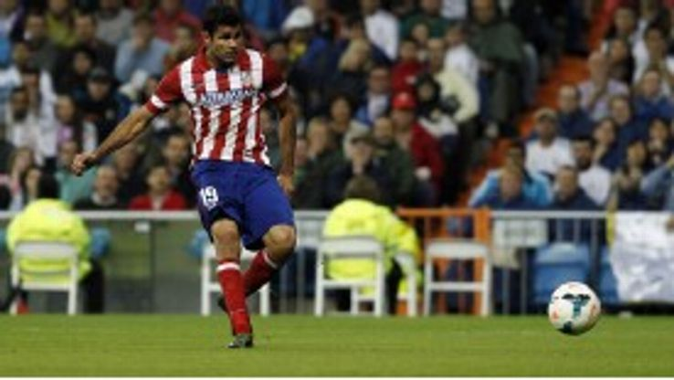 Diego Costa scored for Atletico in the Madrid derby.