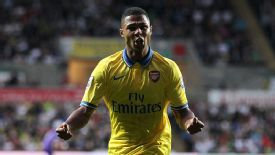 Serge Gnabry helped Arsenal to victory over Swansea.