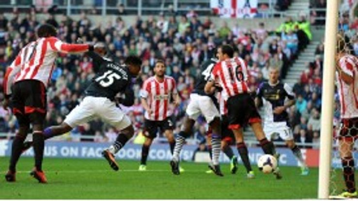 Daniel Sturridge bundles home Liverpool's first at Sunderland.