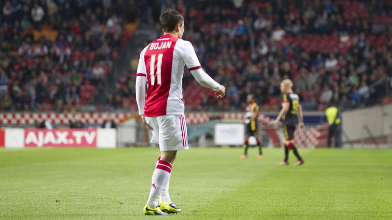 Bojan was taken off during the opening minutes of the victory over Go Ahead Eagles.
