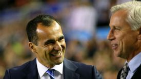 Alan Pardew had little to smile about on Monday as Roberto Martinez's Everton beat his Newcastle side 3-2 on Monday.