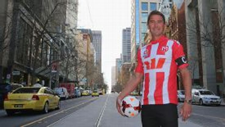 Harry Kewell has returned to the A-League with the Melbourne Heart.