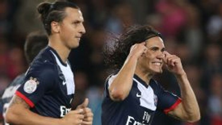 Edinson Cavani has not been playing in his favoured central striking role since arriving at PSG.