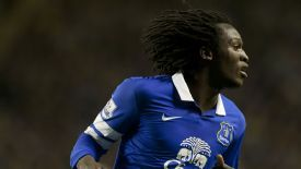 Romelu Lukaku is on loan at Everton from Chelsea.