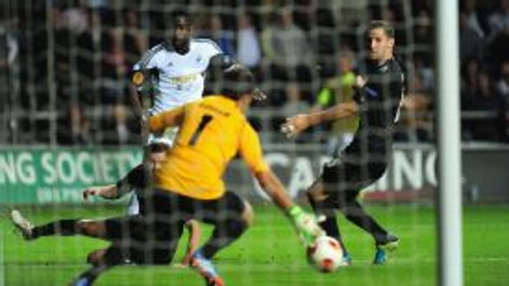 Wayne Routledge was Swansea's Europa Keague match-winner against St Gallen