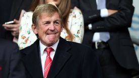 Kenny Dalglish watches Liverpool's Premier League game against Crystal Palace.