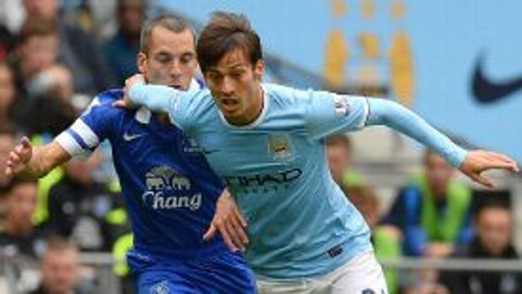 Leon Osman struggled to deal with the movement of David Silva.