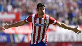 Diego Costa struck twice to keep up Atletico's perfect start to the season.