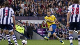 Jack WIlshere scores for Arsenal against West Brom.