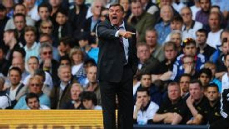 Sam Allardyce barks instructions to his West Ham team.