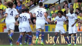 Willian scored his first Chelsea goal in style as he curled home.